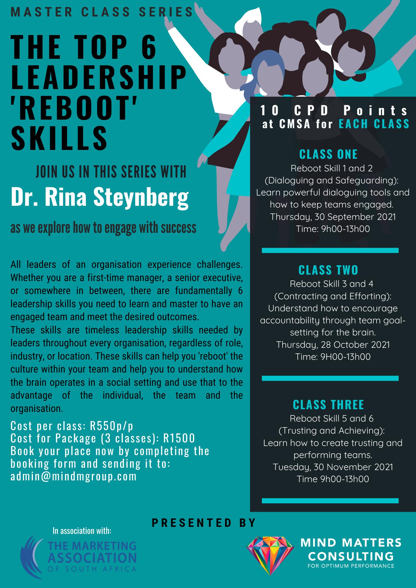Top 6 Leadership 'Reboot' Skills Returns